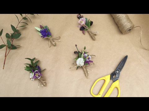 How to make buttonholes from your garden flowers?