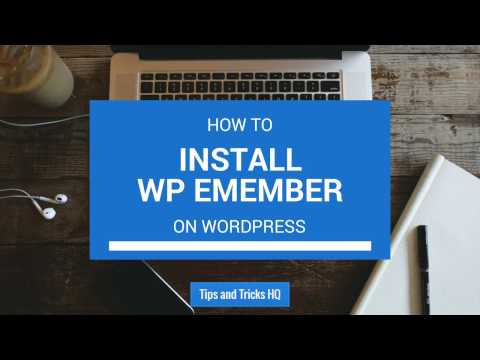 How to Install the WP eMember Plugin