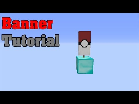 Minecraft Pokeball banner tutorial