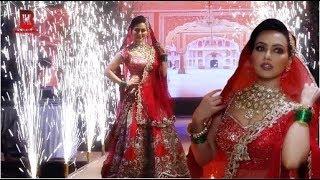 Actress Sana Khan Dulhan Dress On Ramp Walk At Archna Kochhar Bridal Fashion Show
