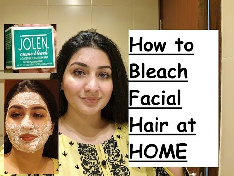 How To Bleach facial Hair at HOME// Jolen Creme Bleach Review by ubzaidi