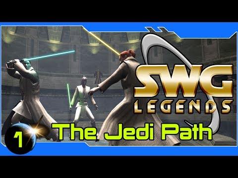 SWG Legends - The Jedi Path - Star Wars Galaxies Jedi Gameplay - Part 1