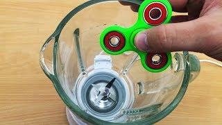 EXPERIMENT BLENDER vs FIDGET SPINNER TOY (55,455 RPM)