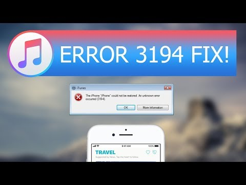 Best Way to Fix iTunes Error 3194 for iOS 11 and iOS 10 iPhone/iPad/iPod