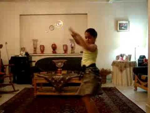 Little Iranian Girl Arabic Dancing