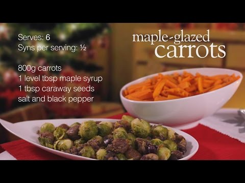 Maple-glazed carrots and chestnut brussel sprouts