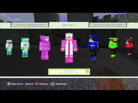 Minecraft (Xbox 360) | Desbloquear Skins Bloqueadas Glitch - Unlock Locked Skins Glitch |