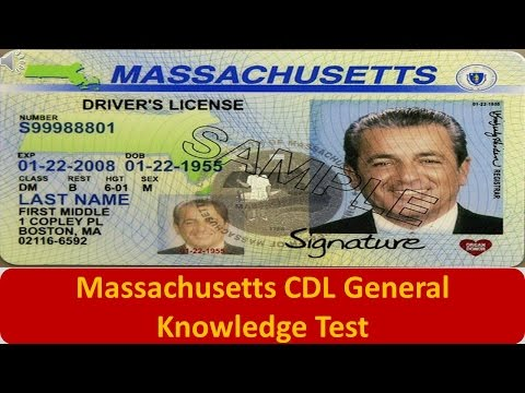 Massachusetts CDL General Knowledge Test