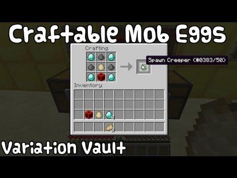 Minecraft Bukkit Plugin - Craftable Mobeggs - Craft spawn eggs!