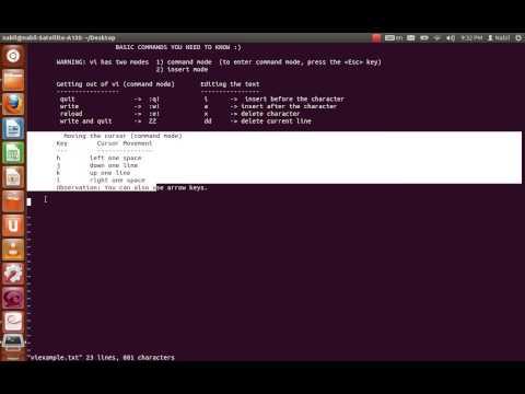 VI text editor tutorial unix linux
