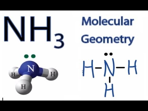 NH3 Molecular Geometry / Shape and Bond Angles (Ammonia)