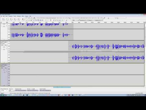 How to Merge & Insert Multiple Tracks into one Track in Audacity