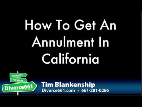 How To Get An Annulment In California