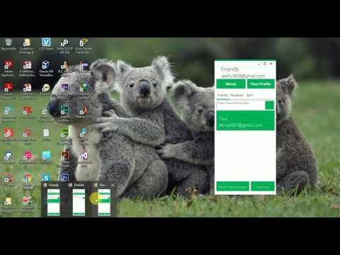 My Messaging App - Metro UI and Visual studio 2015 community