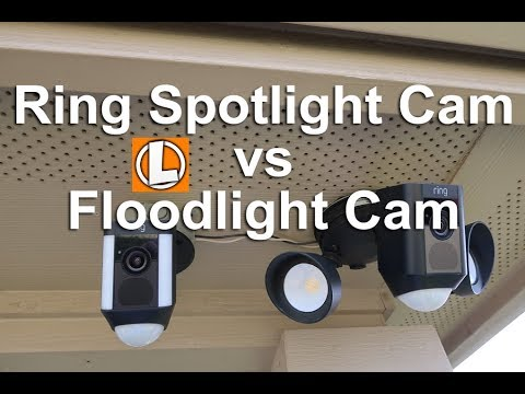 Ring Floodlight Cam vs Spotlight Camera - Comparing Light Output, Features and Settings