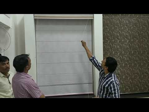 Different types Window Blinds.  Hindi
