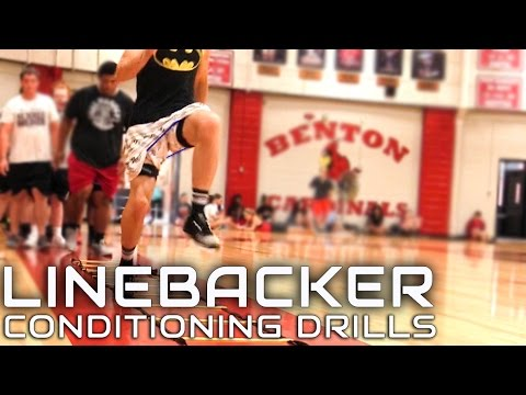 Football Linebacker Closing Speed and Lateral Quickness Conditioning Drills
