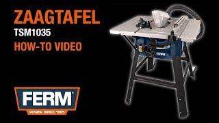 FERM TSM1035 1500W Zaagtafel | Product- en instructievideo