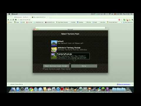 How to Install Minecraft Texture Packs - Mac