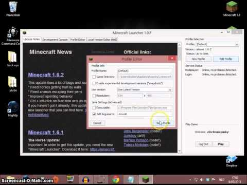How to increase the RAM memory for minecraft 1.6 / How to install java 64 bit on windows 8