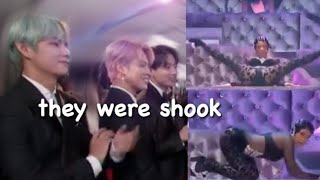 Download *FULL* BTS REACTION TO Cardi B BUSTING IT DOWN @ THE GRAMMY'S *WITH MONITOR* Video