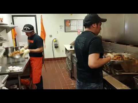 cooking wings #hooters