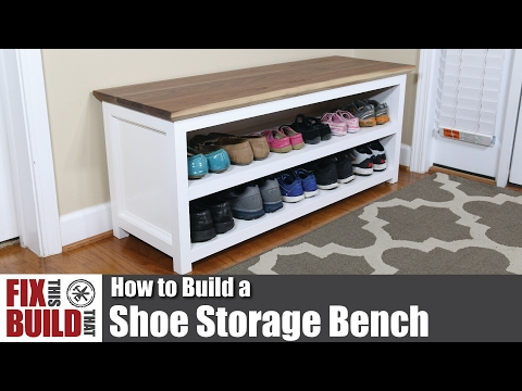 DIY Shoe Storage Bench | How to Build