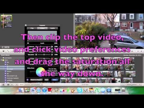 Making a clip half black & white and half color. (iMovie)