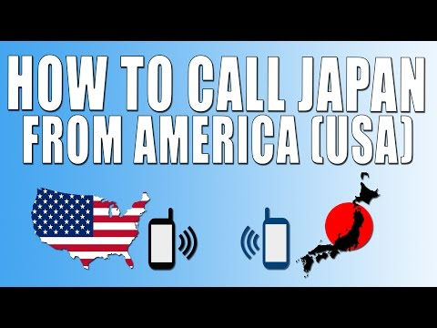 How To Call Japan From America (USA)