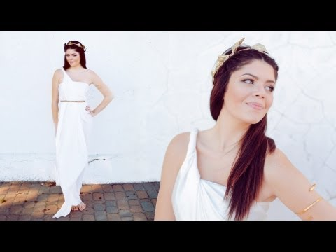 DIY GREEK GODDESS HALLOWEEN COSTUME - NO SEW