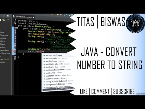 Java Programming - Convert a Number to String