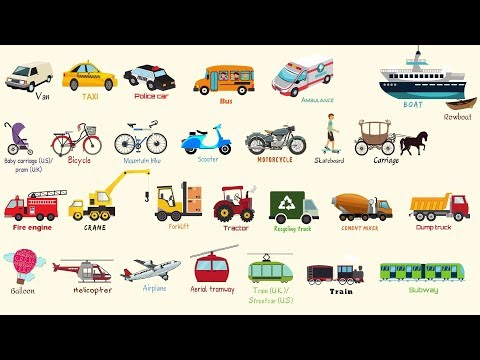 Learn Vehicles Names in English   Modes of Transportation Vocabulary