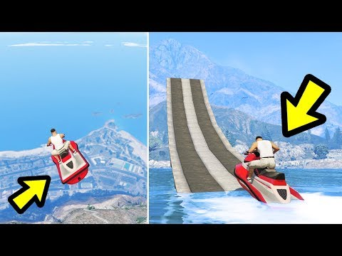 GTA 5 - Can You Jump over Mount Chiliad on a Jetski?