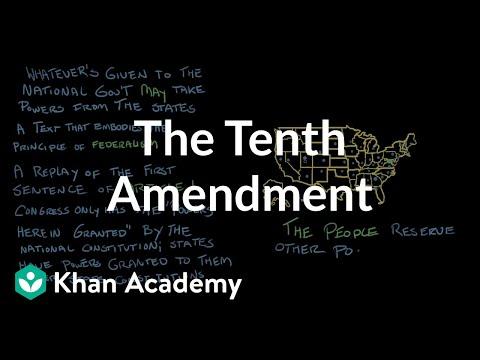 The Tenth Amendment | US Government and Politics | Khan Academy