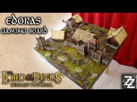 Edoras Interior & Rohan Buildings Lord of the Rings Gaming Board ~ Rohan Terrain Tutorial Part 2