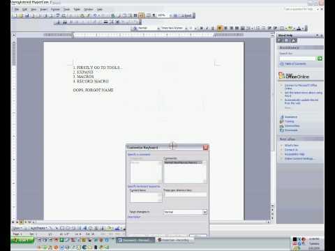 How To Macro On Microsoft Word (2003)