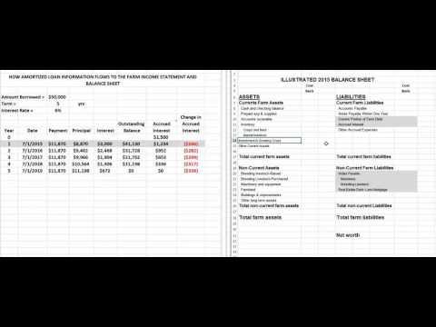 Amortization Schedules and Balance Sheet