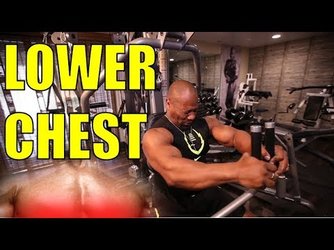 BIG LOWER PECS!  3 Simple Steps   [Chest Muscle Exercises]