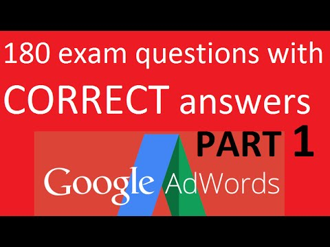 AdWords Fundamentals Exam  (with CORRECT answers) Part 1
