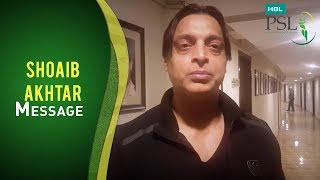 The speedster Shoaib Akhtar wants you to root for your favourite team at HBL PSL 2017