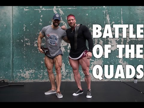 Justin Lovato & Julian Smith train Legs! (Battle of the Quads)