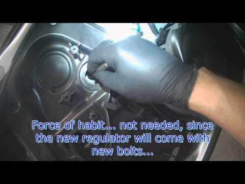 VW A5: EOS Driver side power window regulator removal