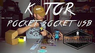 K-tor - Pocket Socket Usb 1 Amp - Hand Crank Generator - Casual Preppers