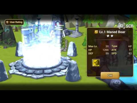 Summoner war: lucky day and my dragon knight