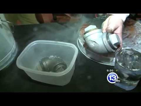 Imagine It - Expanding ice bursts iron pipe