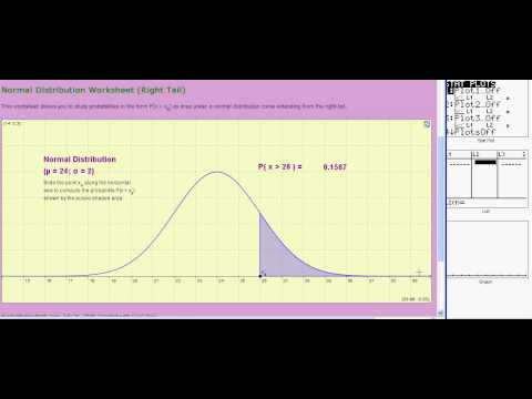 Ti 83/84:  Normal Distributions:  normalcdf  (V05a)