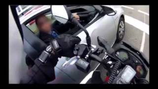 Undercover Motorcycle Cop Pulling Over Phone Users