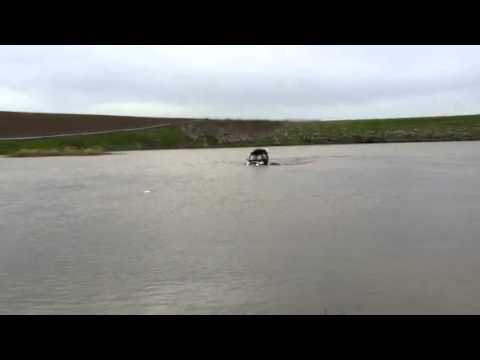 POLARIS RZR-S IN THE LAKE