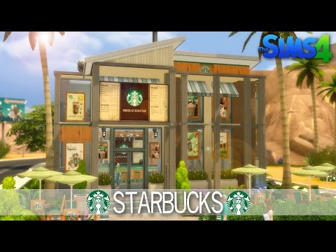 The Sims 4 Speed Build - Starbucks - House Building