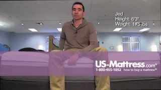 Sealy Posturepedic Hybrid Copper Plush Comfort Depth with Jed